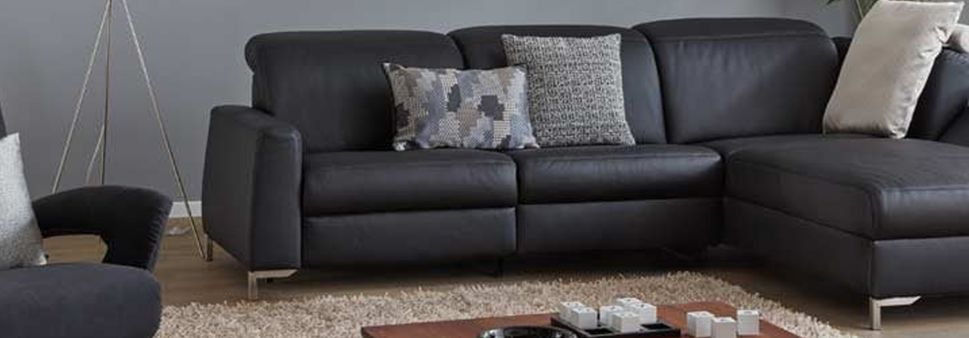 Group hero banner leather corner sofas