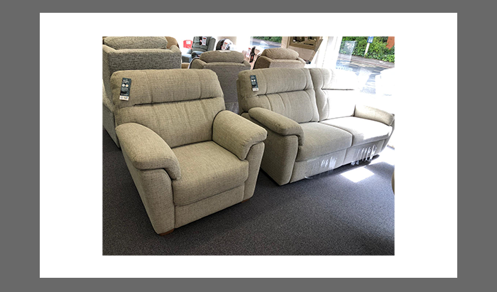 3 Seater Double Powered Sofa and Armchair