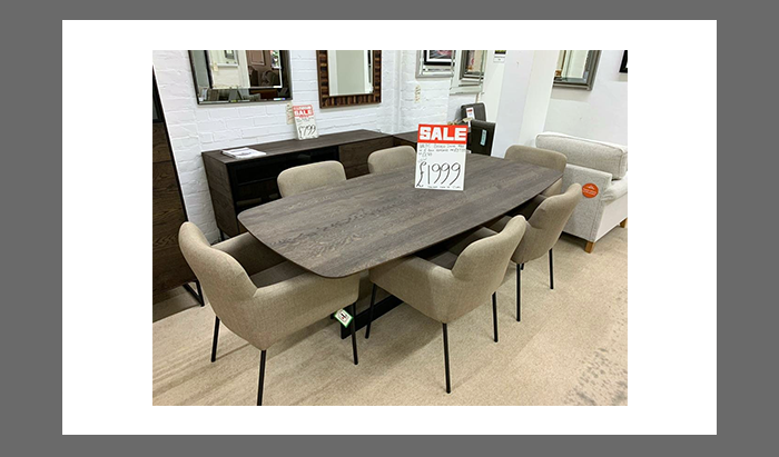 Dining Table and 6 Bella Armchairs