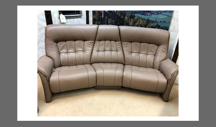 Curved Reclining Sofa and Chair