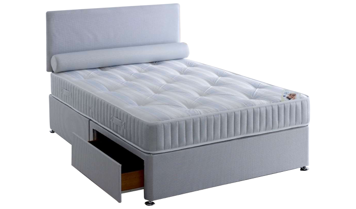 Double 2 drawer divan with headboard