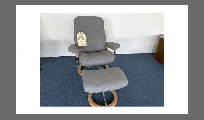Large Recliner Chair and Stool